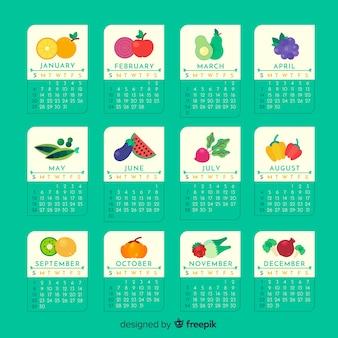 Calendario de temporadas de frutas y verduras