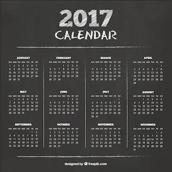 Calendario con textura de pizarra