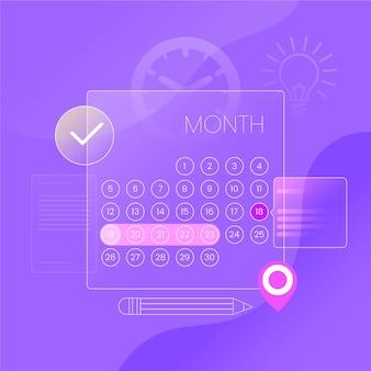 Calendario transparente reserva de citas