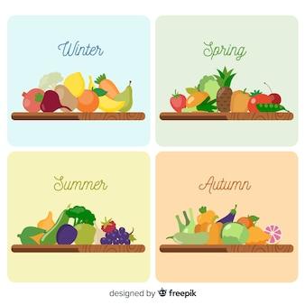 Calendario verduras y frutas estacionales colorido