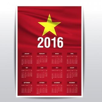 Calendario de vietnam de 2016