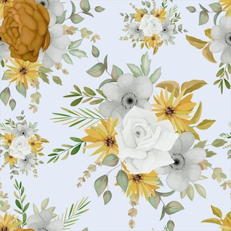 Cálido otoño floral diseño de patrones sin fisuras
