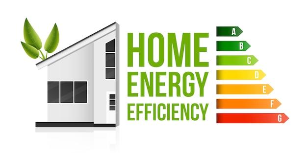 Calificación de eficiencia energética del hogar, casa ecológica inteligente.