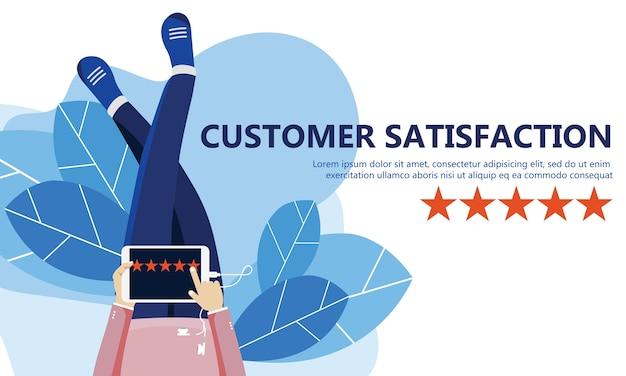 Calificación en la ilustración de servicio al cliente