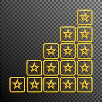 Calificación de productos o reseñas de clientes para aplicaciones y sitios web