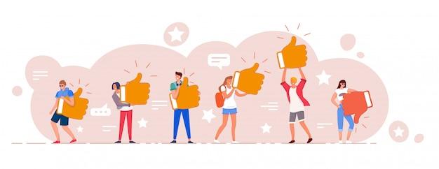 Calificación de revisión en línea del cliente y conjunto de comentarios