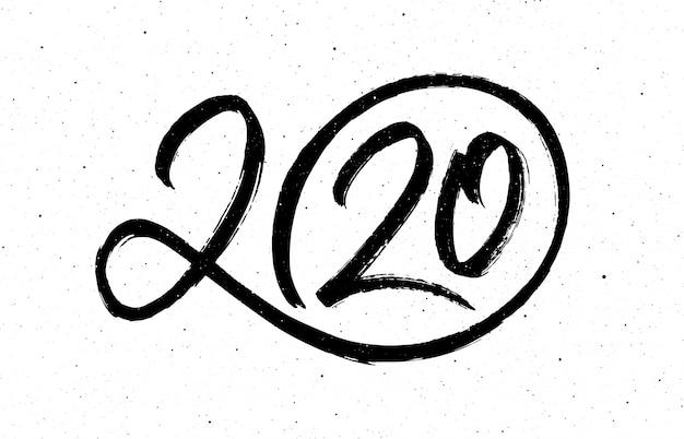 Caligrafía para 2020 año nuevo de la rata