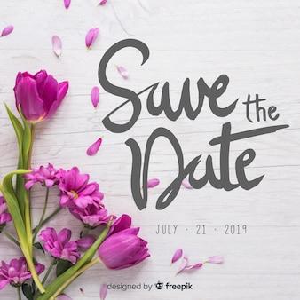 Caligrafía de anota la fecha con fondo de fotografía