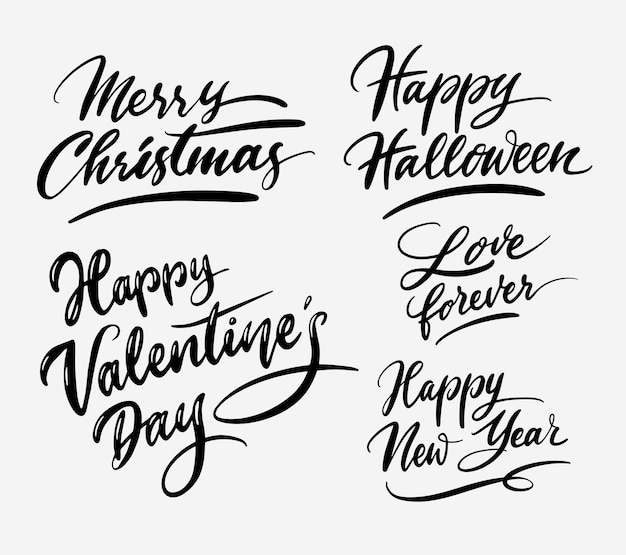 Caligrafía de caligrafía de dulce día de evento