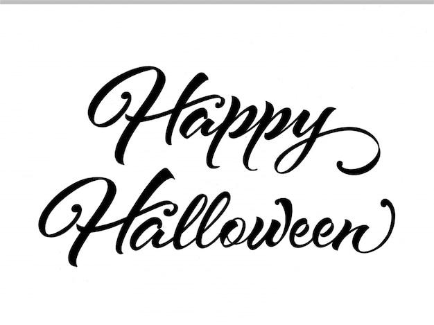 Caligrafía de feliz halloween