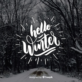 Caligrafía hello winter