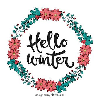 Caligrafía de hello winter