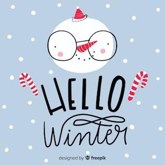 Caligrafía hello winter