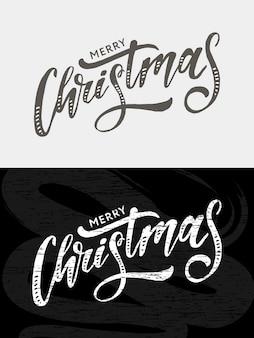 Caligrafía de letras navideñas