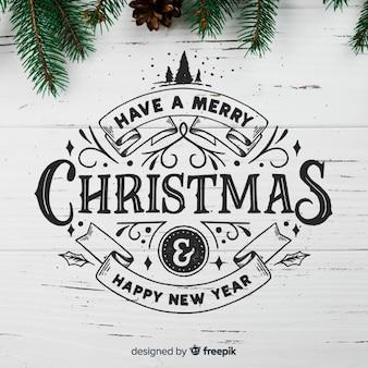 Caligrafía de navidad