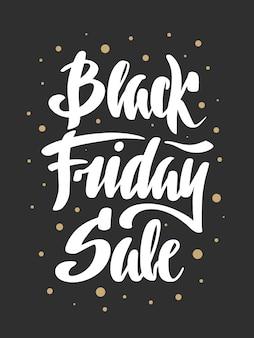 Caligrafía de pincel dibujado a mano. venta de viernes negro.