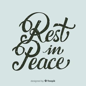 Caligrafía de rest in peace