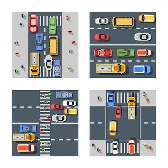 Calle de la ciudad con asfalto