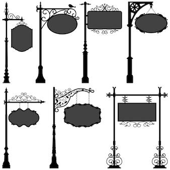 Calle del marco del poste de la muestra de la señalización.