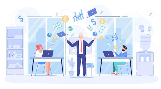Calma en el lugar de trabajo para lograr el éxito empresarial