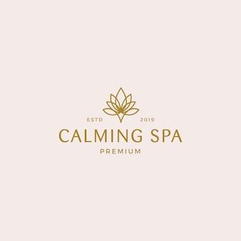 Calmante plantilla de logotipo de spa