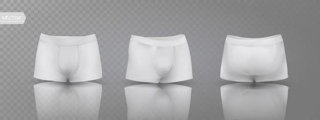 Calzoncillos boxer para hombre en diferentes posiciones.
