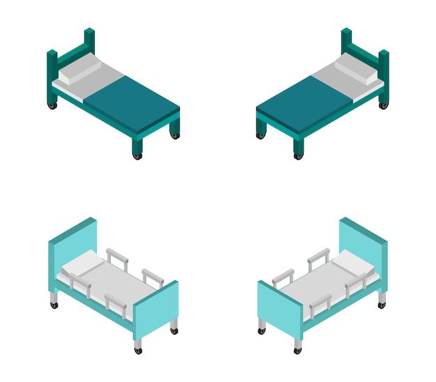Cama de hospital isométrica