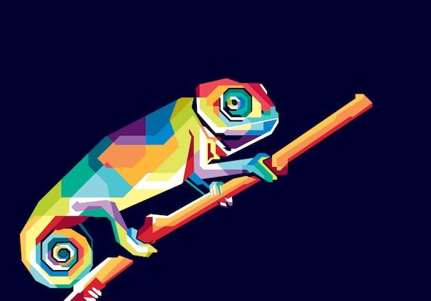 Camaleón colorido