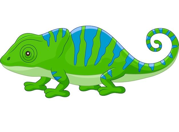 Camaleón lindo de dibujos animados