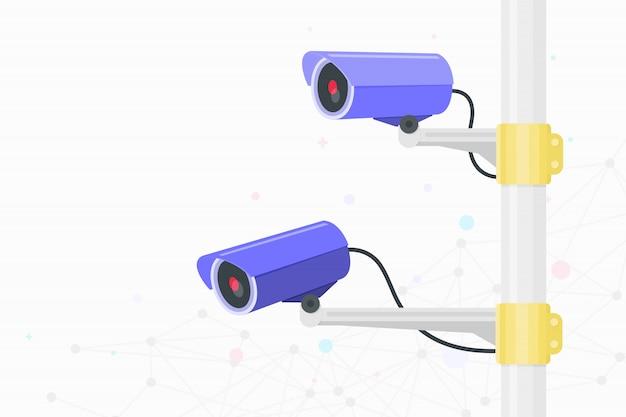 Cámara de circuito cerrado de televisión. video vigilancia