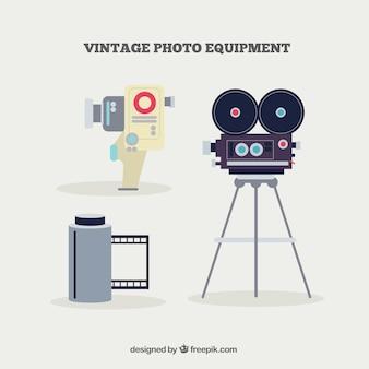 Cámara de fotos y carrete