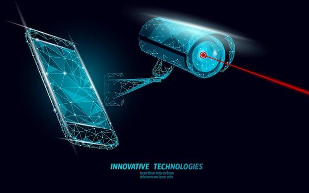 Cámara móvil de control de privacidad cctv