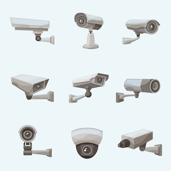Cámara de vigilancia de iconos realistas