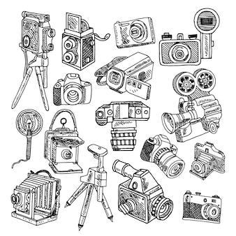 Cámaras de hobby vintage de fotos y películas.