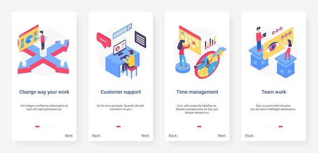 Cambiar la forma de trabajar ilustración del concepto de negocio
