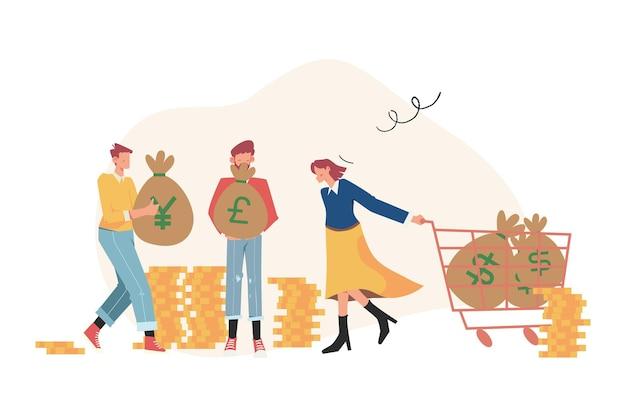 Cambio de moneda digital, finanzas, mercado digital, billetera de criptomonedas, bolsa de valores, transferencia en línea