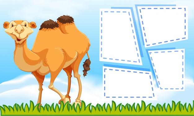 Camello en el fondo de la nota