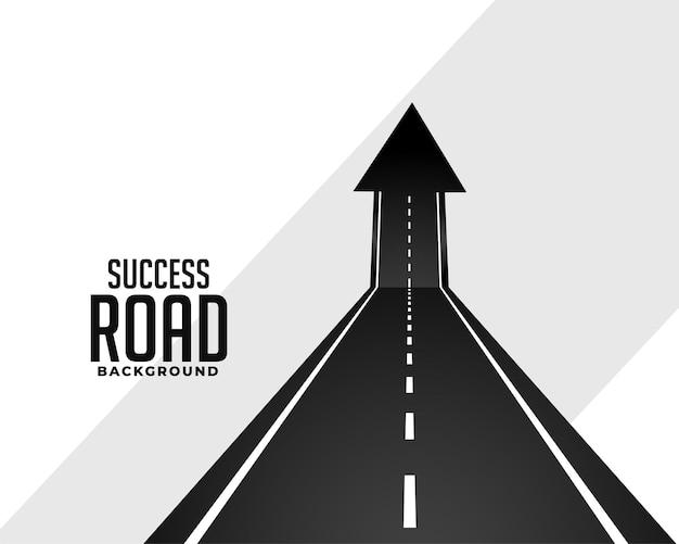 Camino de la carretera en perspectiva con flecha hacia arriba vector gratuito