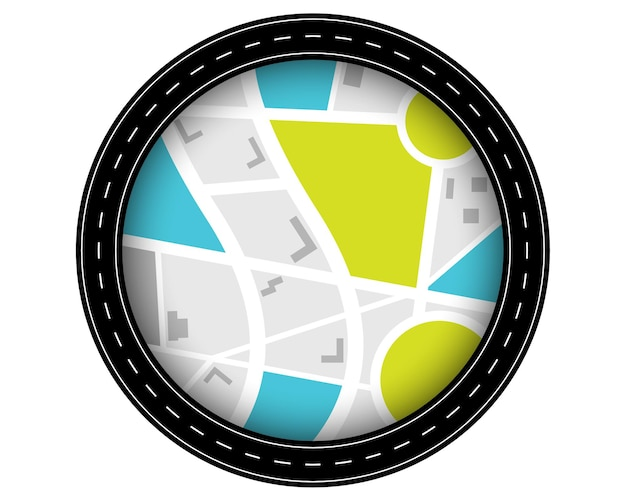 Camino circular ruta ruta viaje