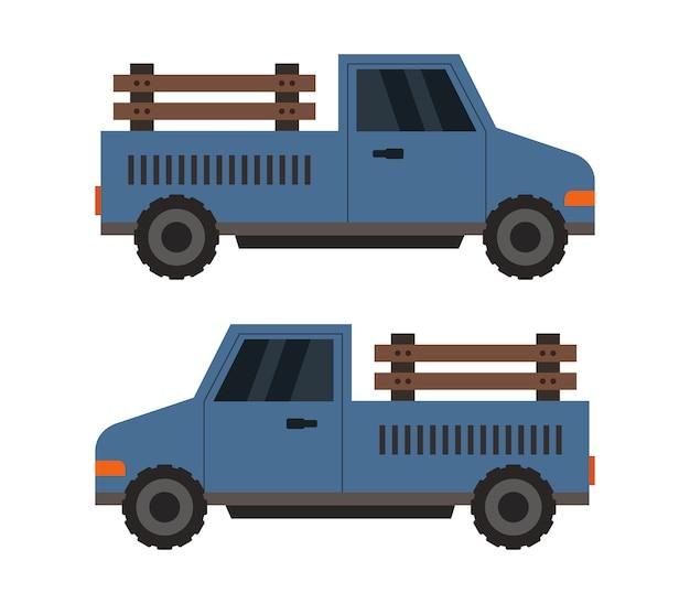 Camión agricultor en blanco