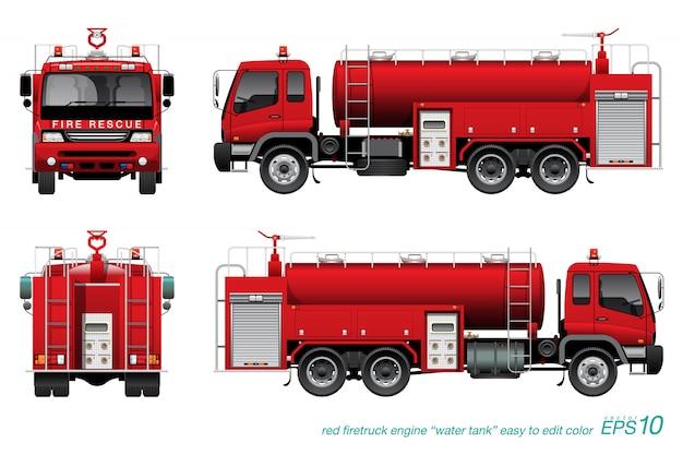 Camión de bomberos cisterna