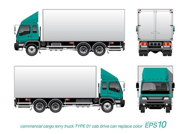 Camión de camiones de carga