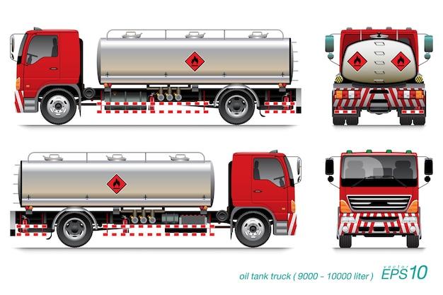 Camión cisterna de aceite 6 ruedas.