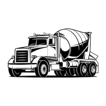 Camión hormigonera cemento beton