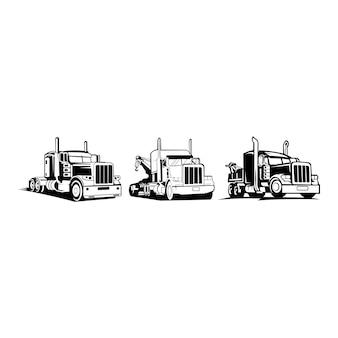 Camión remolque logotipo de transporte - inspiración vector van