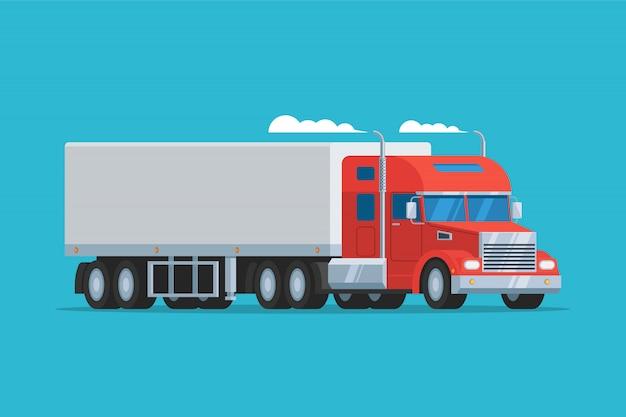 Camión semi grande