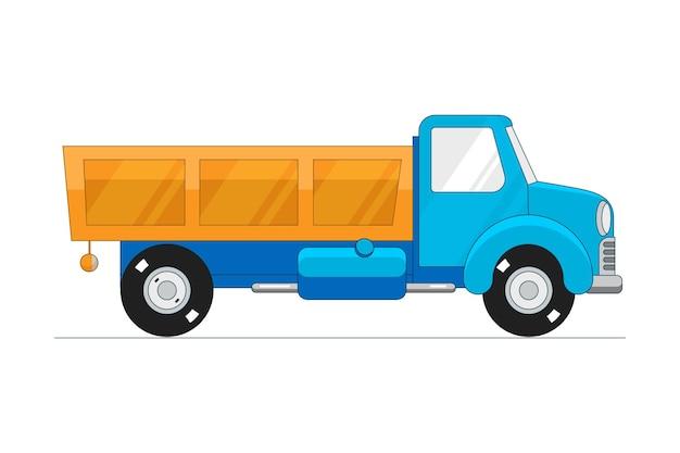 Camión volquete aislado