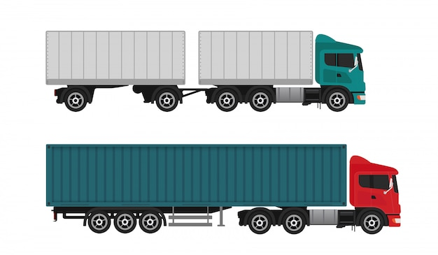 Camiones de carga de envío de entrega