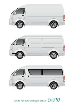 Camioneta blanca de diferente tipo