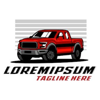 Camioneta pick up, plantilla de logotipo de camión
